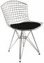 Cadeira Bertoia DKR com Assento - Cromada