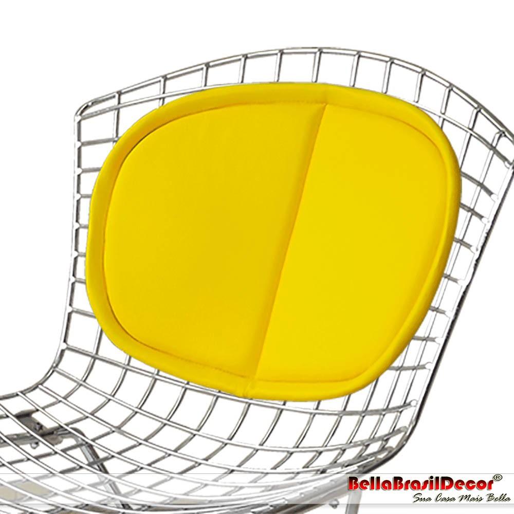 Almofada Encosto Cadeira e Banqueta Bertoia