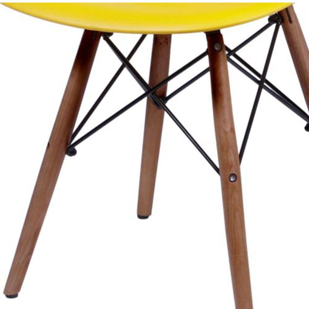 Base Cadeira Eames DSW Madeira Escura