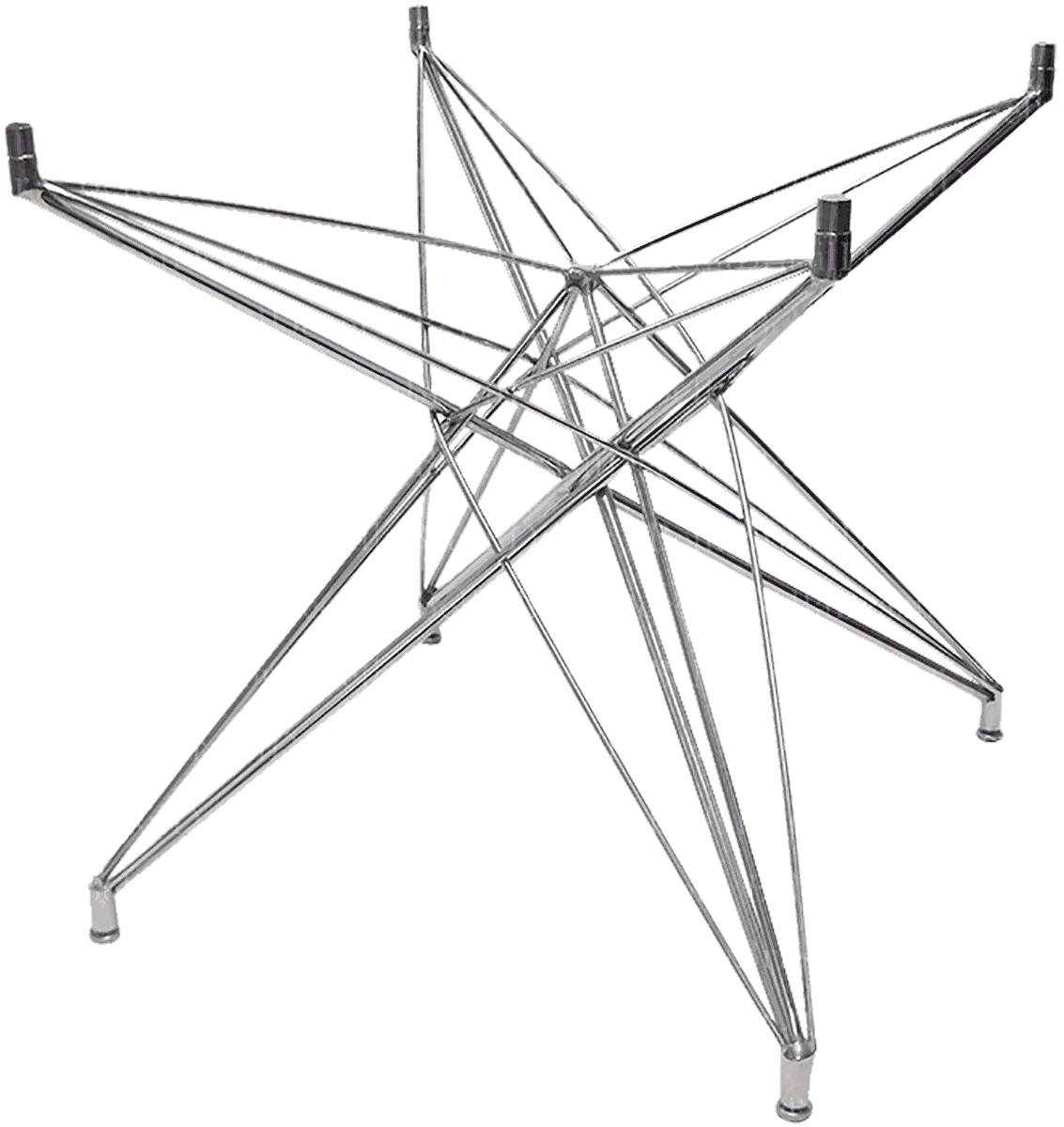 Base de Mesa Estrela Quadrada Pequena Inox