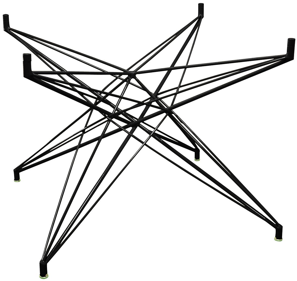 Base de Mesa Estrela Quadrada Preta