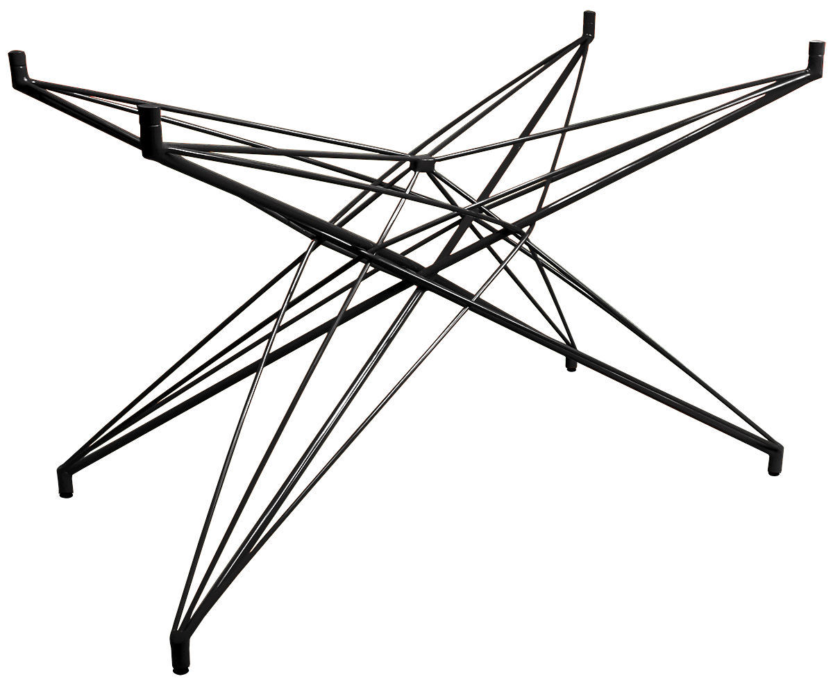 Base de Mesa Estrela Retangular Preta