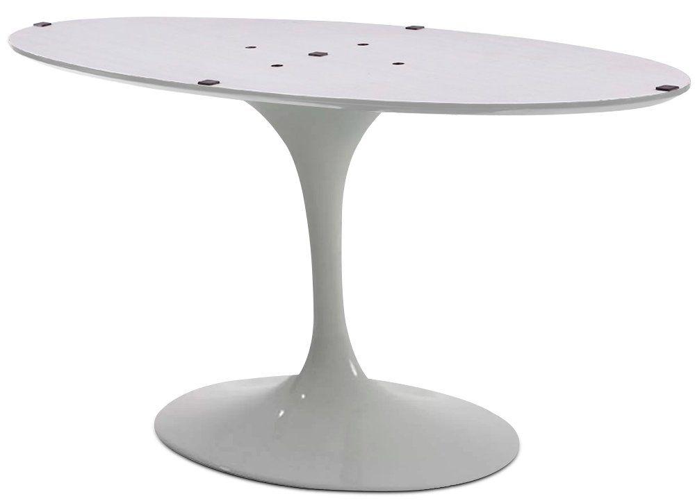 Base de Mesa Saarinen de Jantar Oval em Alumínio Branca