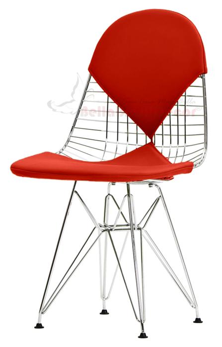 Cadeira Eames Aramada DKR Bikini Base Eiffel Cromada