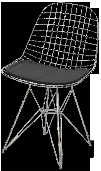 Cadeira Aramada DKR Inox com Assento Lote 1 - Ponta de estoque