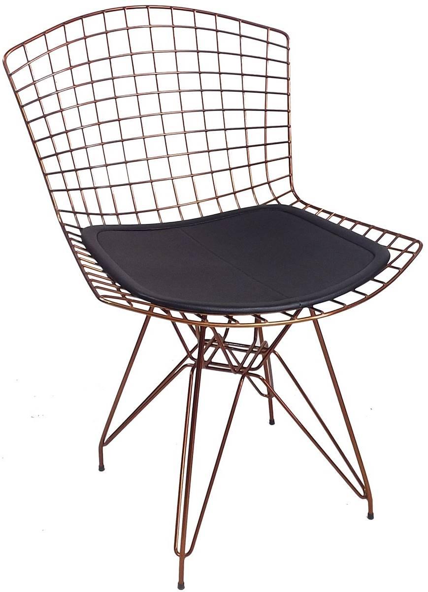 Cadeira Bertoia DKR Cobre Rose Gold com Assento
