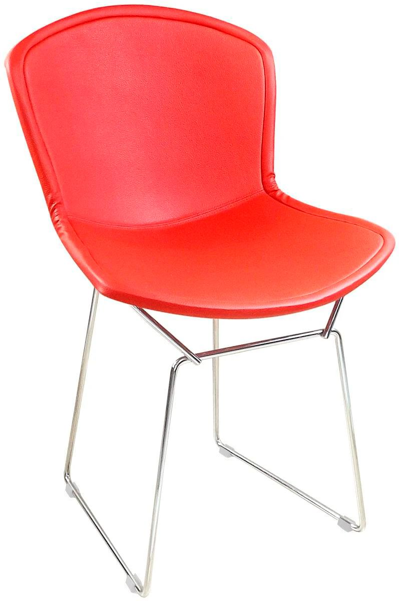 Cadeira Bertoia Tradicional Capa Total - Cromada