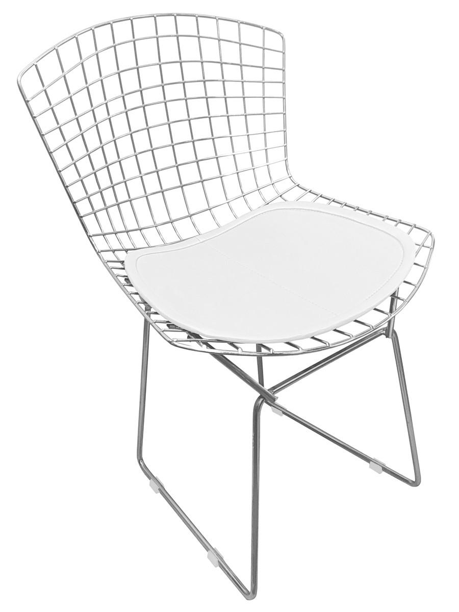 Cadeira Bertoia Tradicional Cromada com Assento