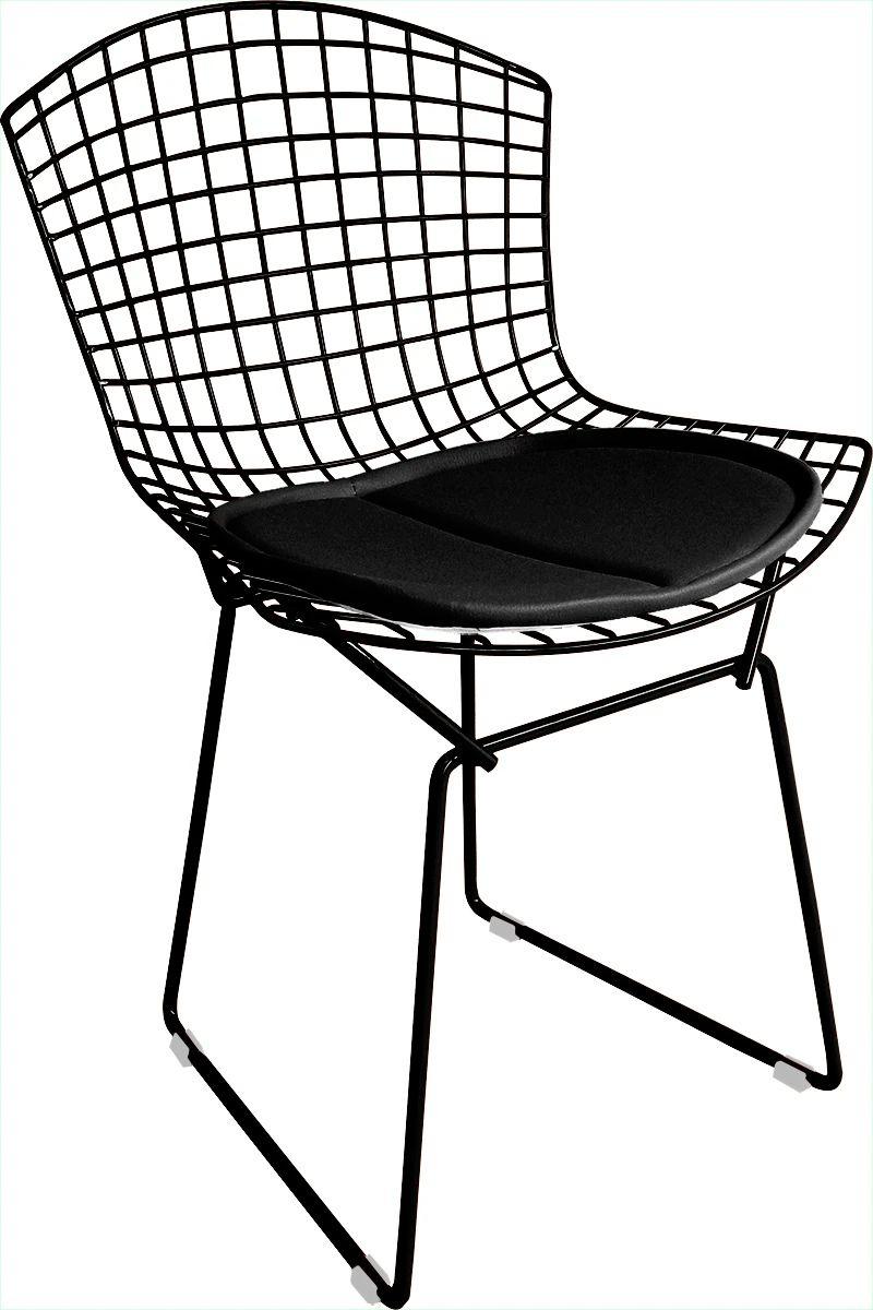 Cadeira Bertoia Tradicional Pintada Epoxi Com Assento - Diversas Cores - Linha Color