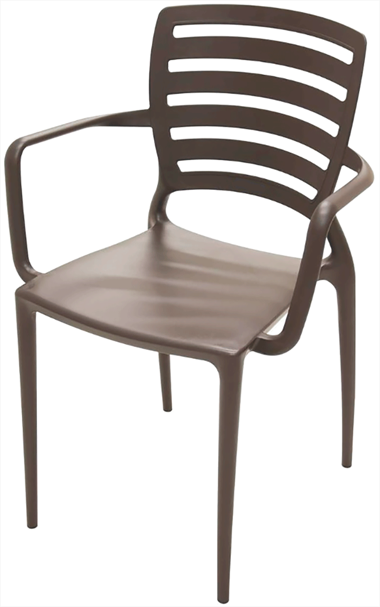 Cadeira Sofia Vazada Horizontal com Braço