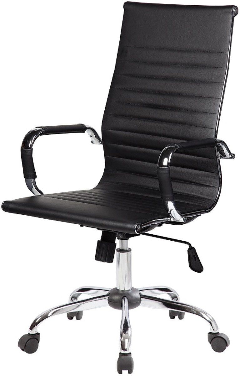 Cadeira Charles Eames Office Esteirinha Alta Diretor em Courino