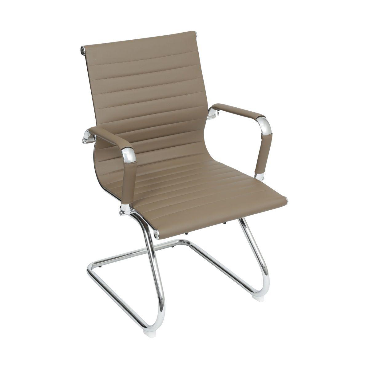 Cadeira Charles Eames Office Esteirinha Corino Fixa Interlocutor