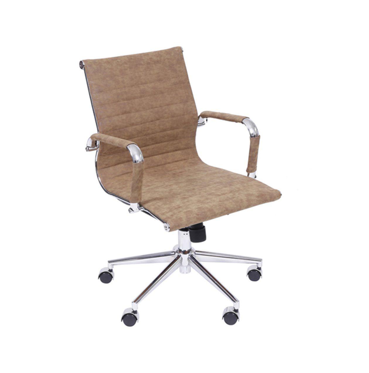 Cadeira Charles Eames Office Esteirinha Tecido Baixa