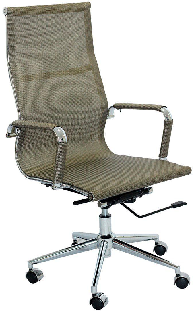 Cadeira Charles Eames Office Esteirinha Tela Mesh Alta
