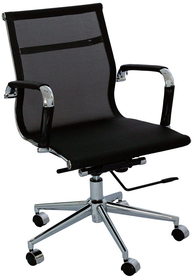Cadeira Charles Eames Office Esteirinha Tela Mesh Baixa