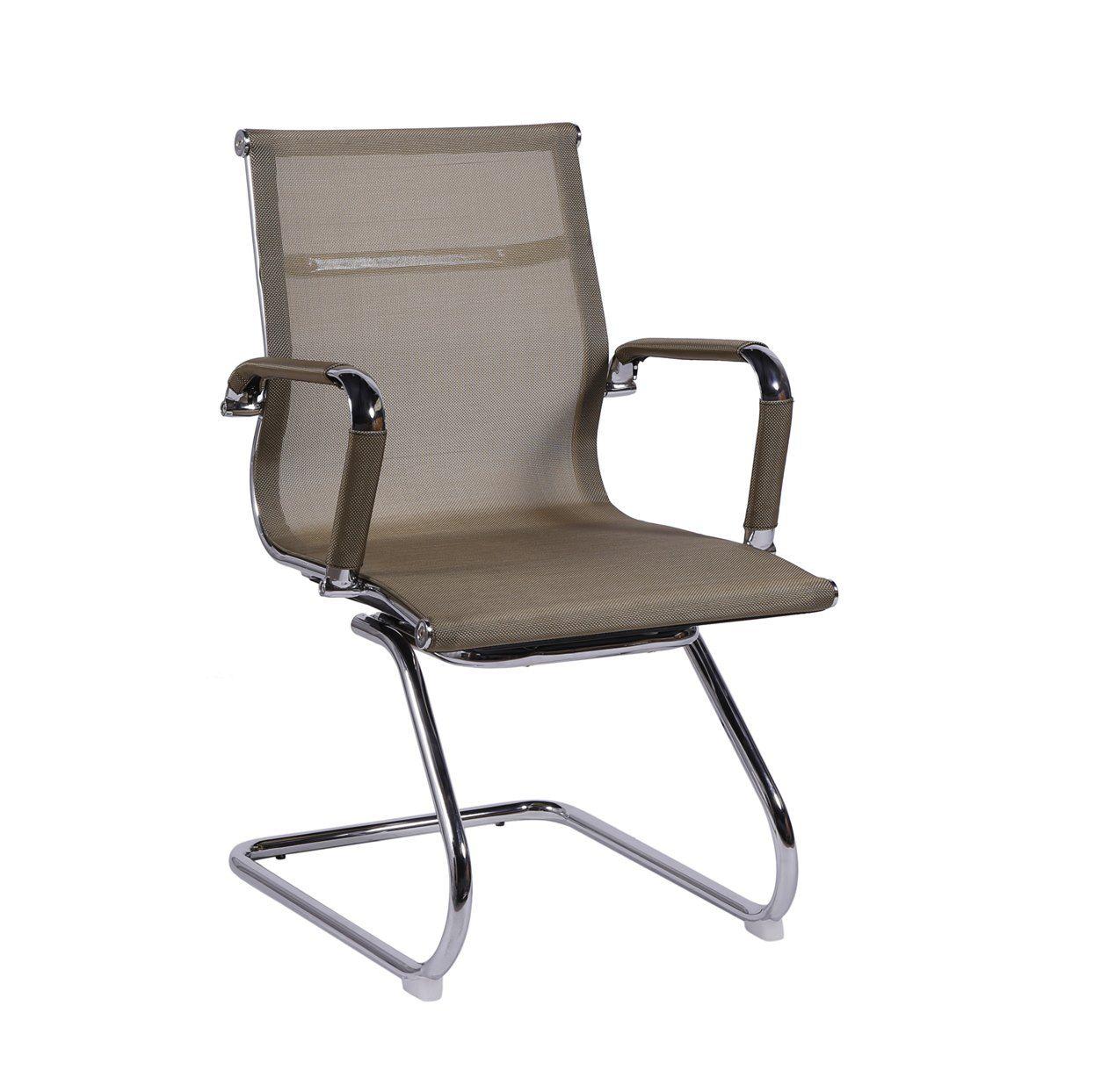 Cadeira Charles Eames Office Esteirinha Tela Mesh Fixa Interlocutor