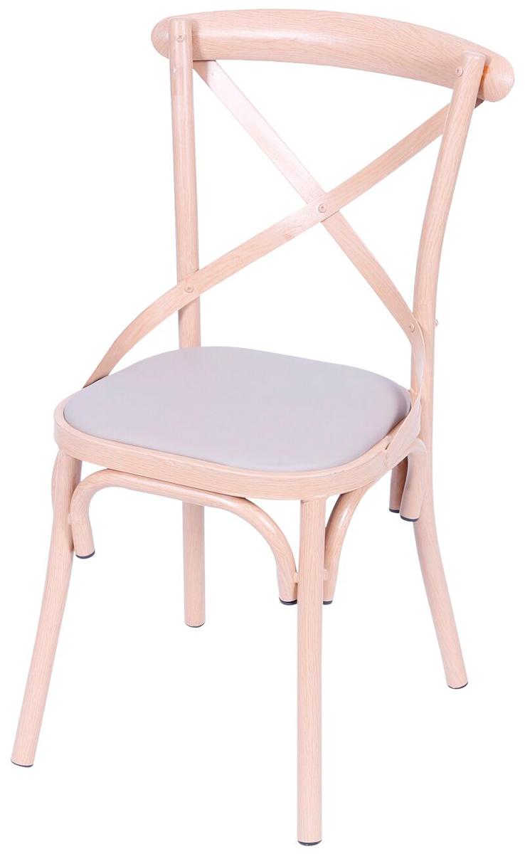 Cadeira Cross Metal Estampada Madeira