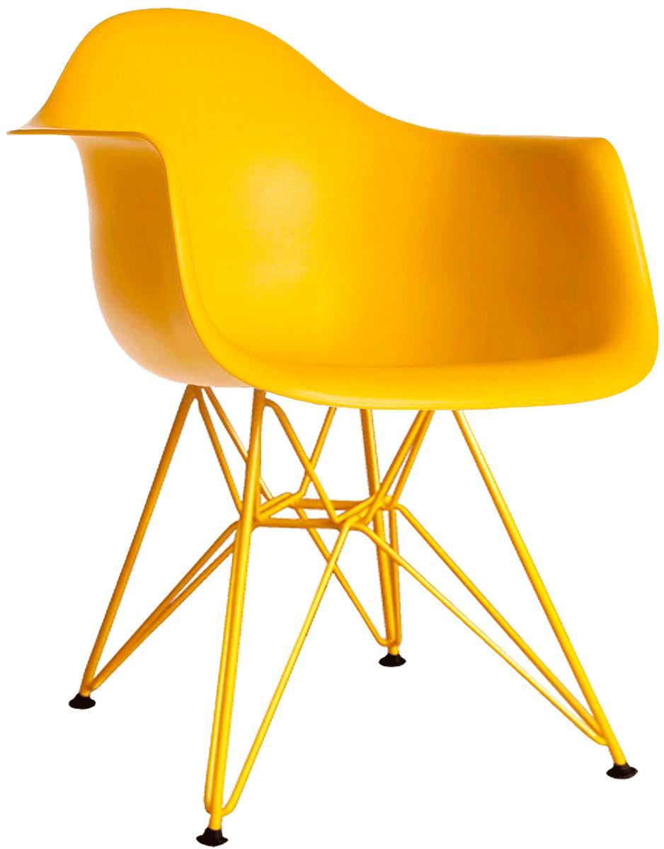 Cadeira Eames DAR Base Eiffel Pintada Epoxi  - Linha Color