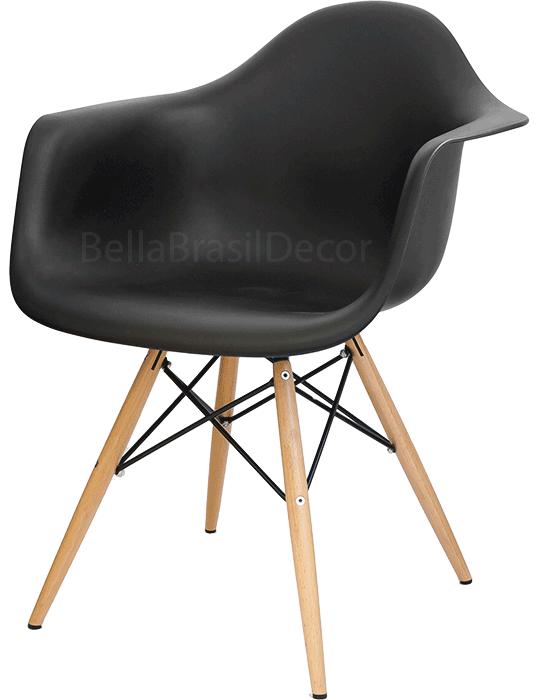 Cadeira DAW Preta - Pequenos Defeito + Almofada Brinde