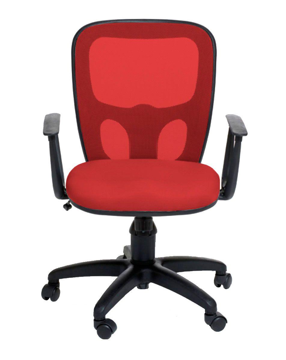 Cadeira de escritório AMITI secretária giratória base nylon preta assento em corino PU