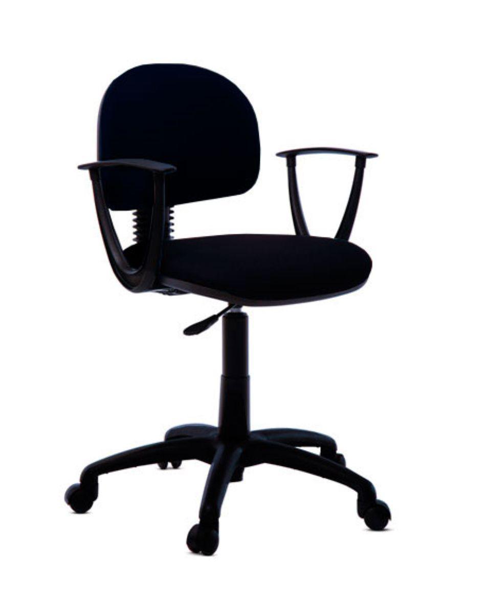 Cadeira de escritório TALON secretária giratória base na cor preta em nylon