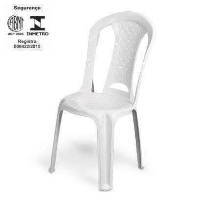 Cadeira de Plastico Lisa - Certificada Inmetro