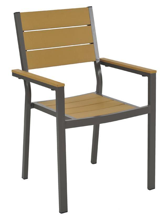 Cadeira Dorset em Alumínio Revestido em Polywood com Braço