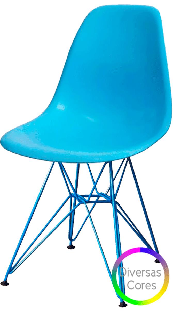 Cadeira Eames DSR Polipropileno Cores Personalizadas - Linha Color