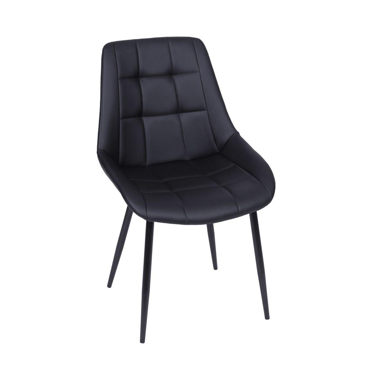 Cadeira Dubai sem Braço Revestida em PU com Base em Metal - Várias Cores