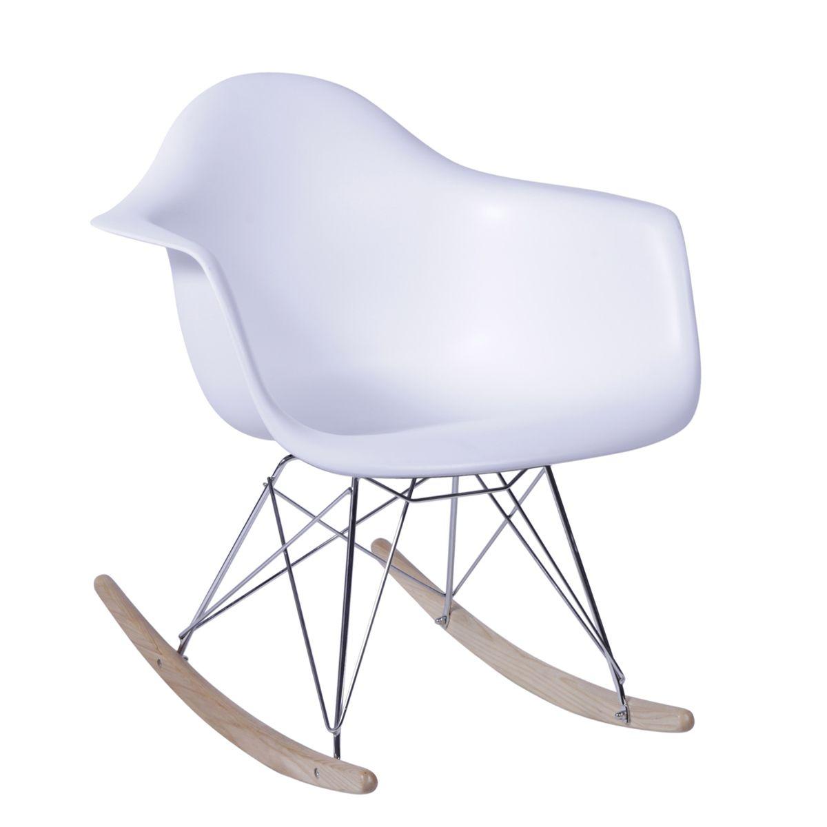 Cadeira Eames Balanco RAR Polipropileno Base Balanco