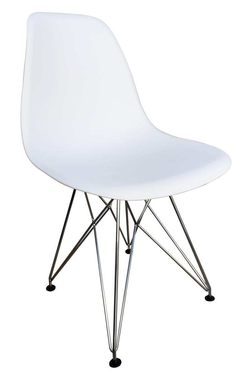 Cadeira Eames DSR Bella Eiffel em Polipropileno com Base Cromada