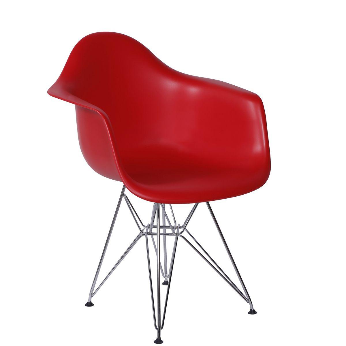 Cadeira Eames DAR Base Eiffel Cromada