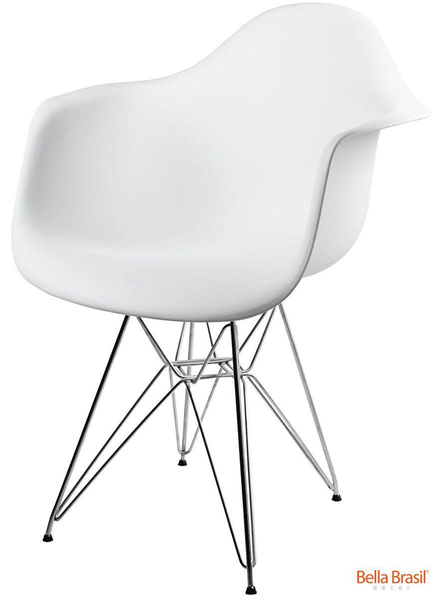 Cadeira Eames Dar Base Eiffel Inox