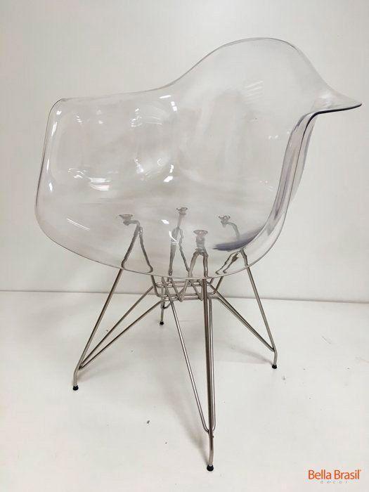 Cadeira Eames DAR com Braco Transparente