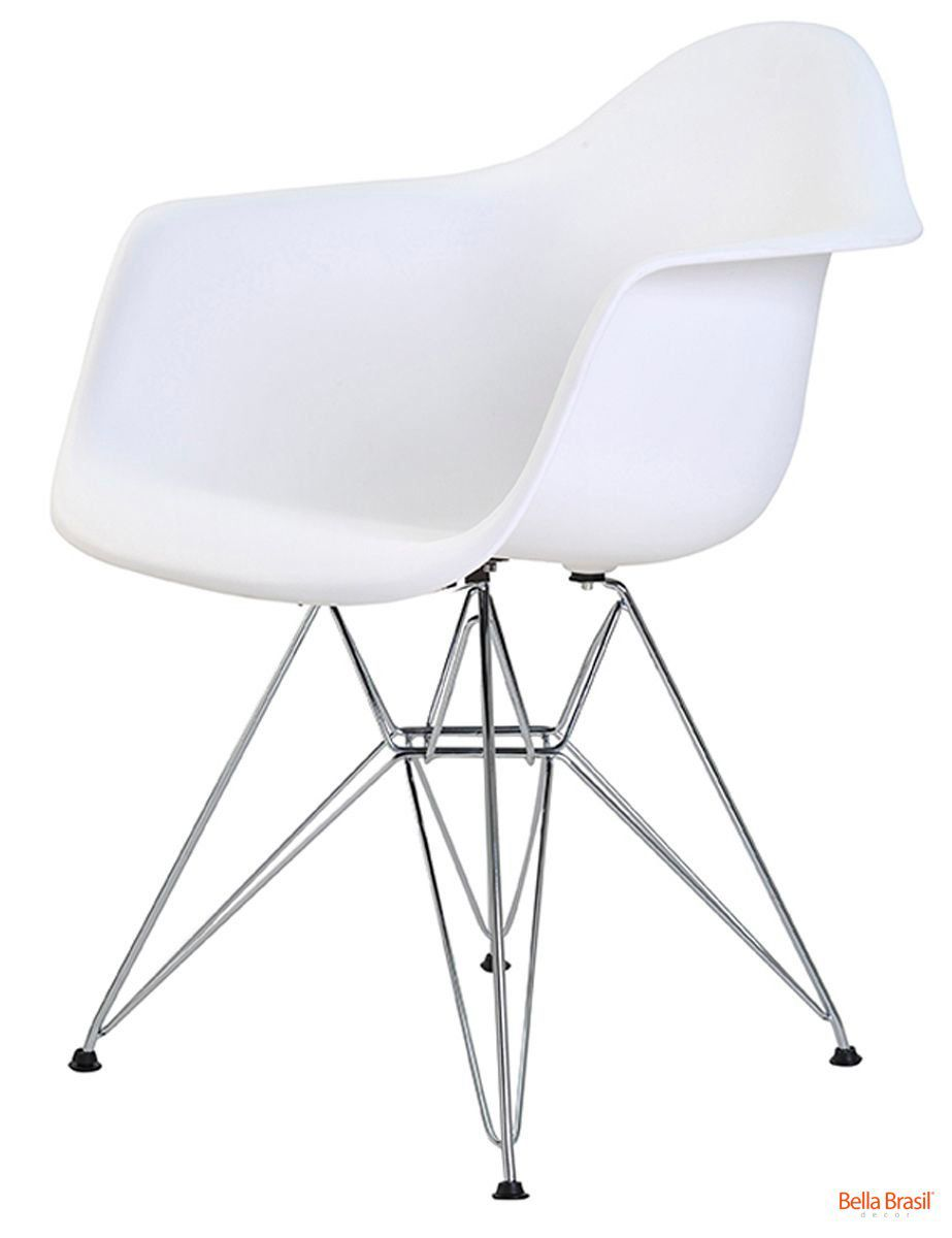 Cadeira Eames DAR Polipropileno Base Cromada