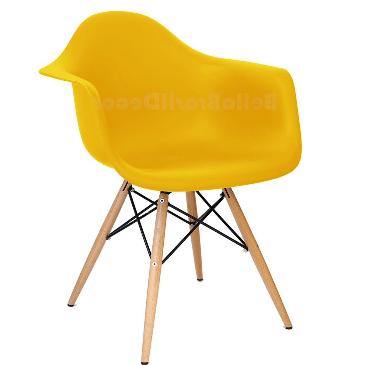Cadeira Eames DAW com Braco Base Eiffel Madeira