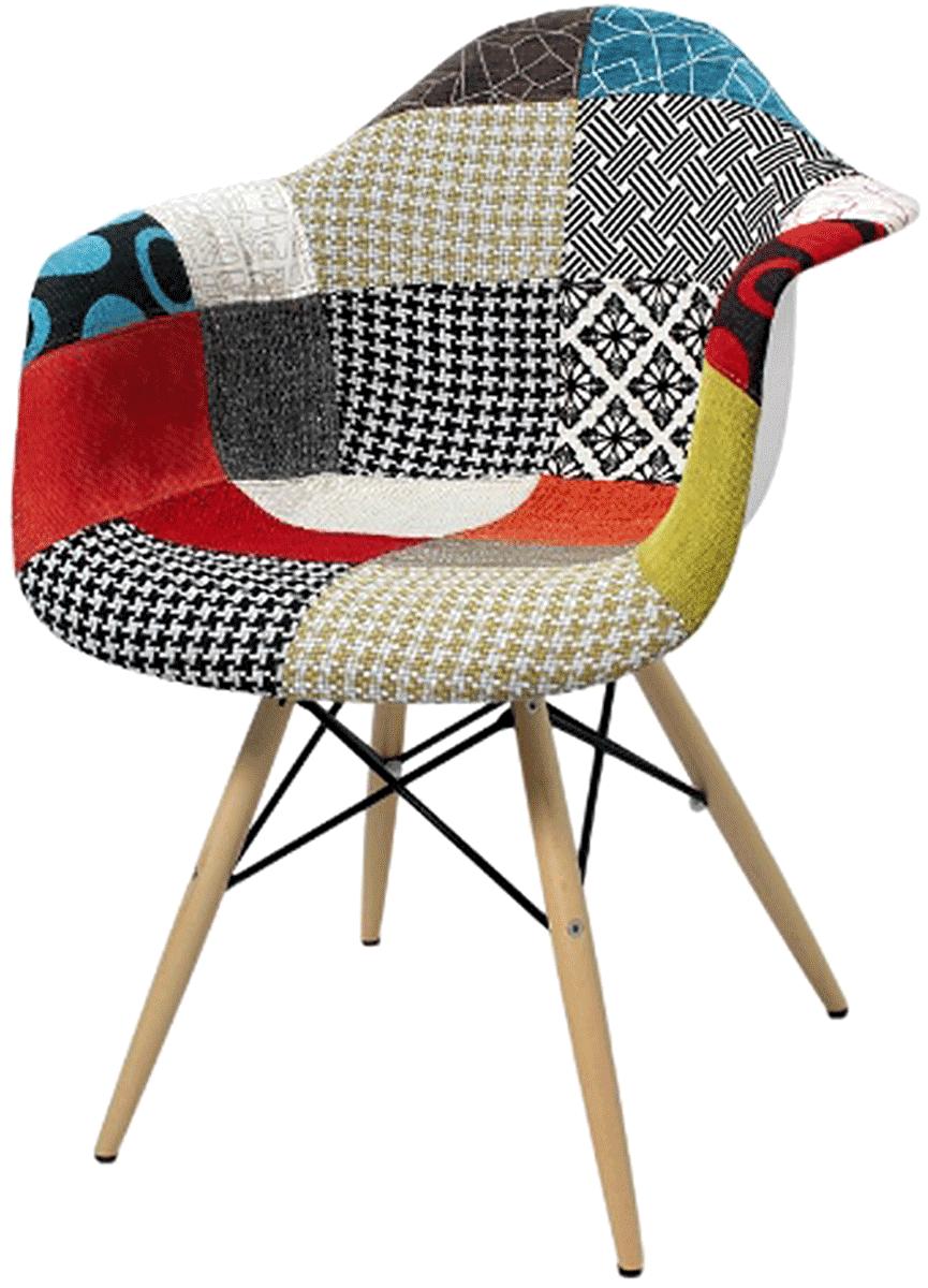 Cadeira Eames Daw wood Patchwork
