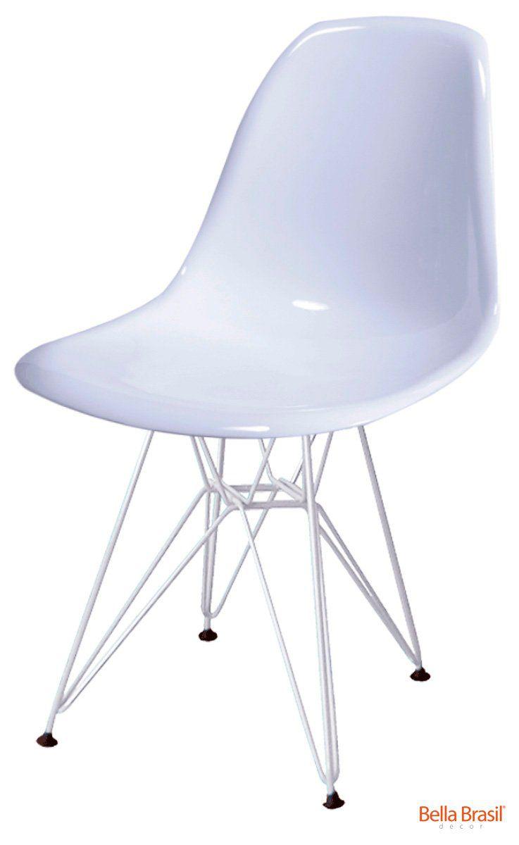 Cadeira Eames DSR Policarbonato Base Eiffel - Diversas Cores - Linha Color