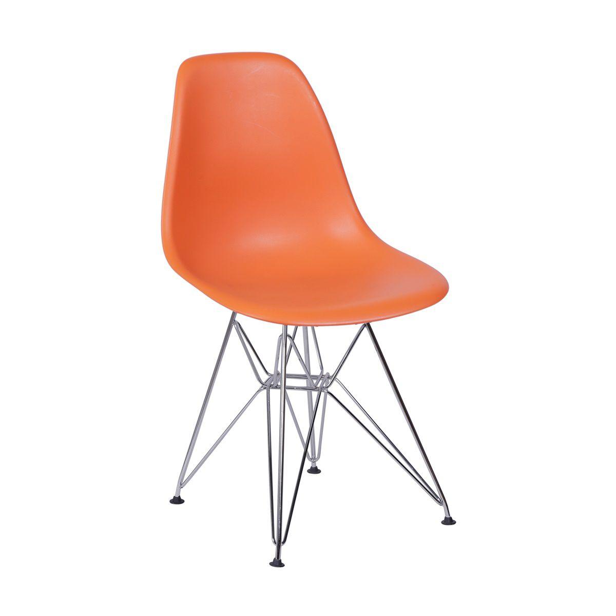 Cadeira Eames DSR Polipropileno Base Eiffel Cromada