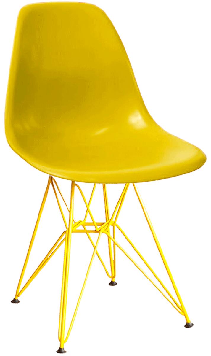 Cadeira Eames DSR Polipropileno Base Eiffel Pintada Epoxi Diversas Cores - Linha Color
