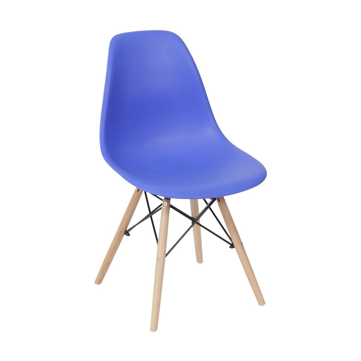 Cadeira Eames DSW Polipropileno Base Eiffel Madeira