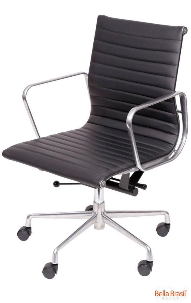 Cadeira Eames Esteirinha Aluminio Baixa
