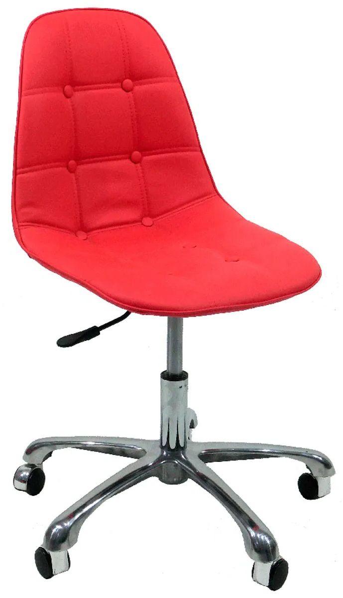 Cadeira Eames Office Botonê Corino com Base Rodízio