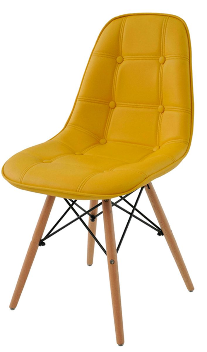 Cadeira Eames Wood DSW Botone