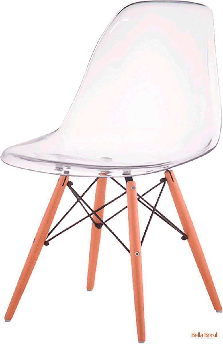 Cadeira Eames Wood DSW Policarbonato