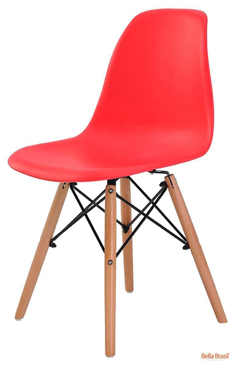 Cadeira Eames Wood DSW Polipropileno