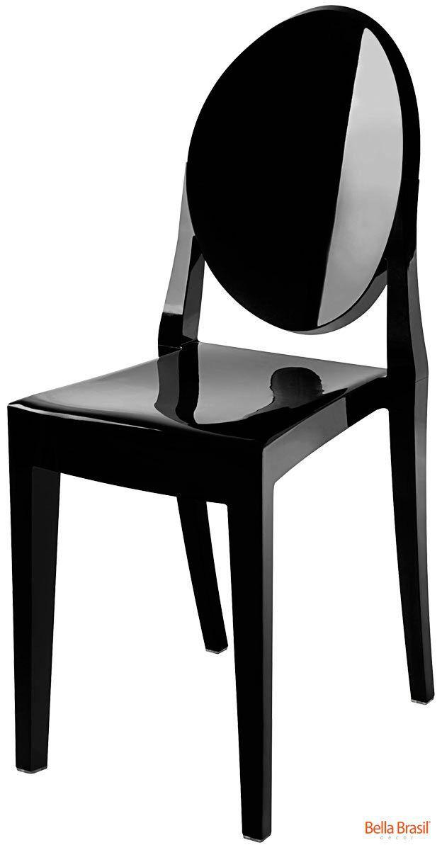 Cadeira Ghost Sofia Policarbonato Sem Braço