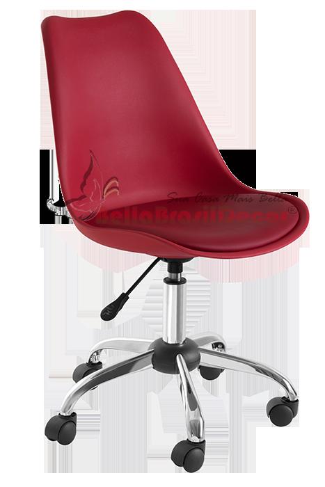 Cadeira Office Eames PSCC Saarinen Vermelha