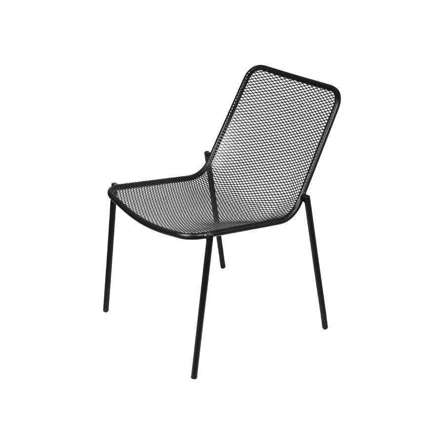 Cadeira Glaven em Aço Carbono com Pintura Epóxi Preta