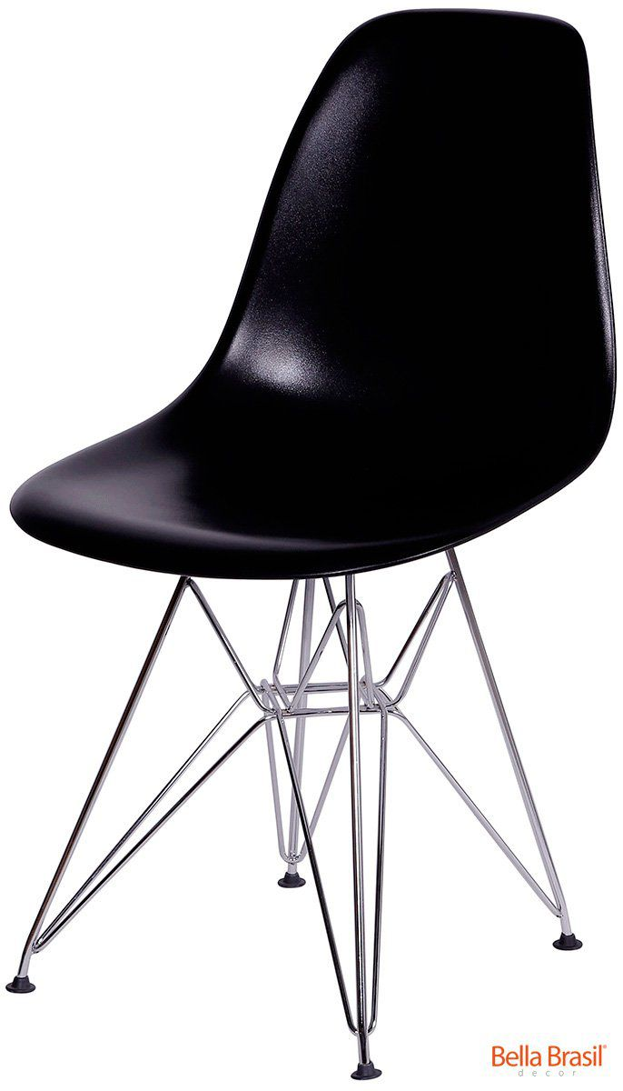 Cadeira Infantil Eames DSR Polipropileno Base Eiffel Cromada